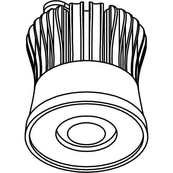 Drawing of SLE16D25/.. - LEDMODULE SORAA, ledmodule - Soraa Module + bevestiging spot - zonder LED driver