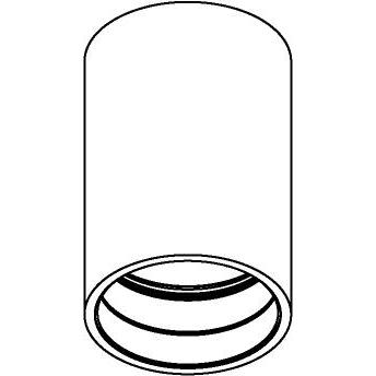 Drawing of E-TUBE.120/.. - Ø80-82 ECS - BUILT UP, plafondverlichting voor inbouwcassette ECS - rond - afzonderlijk te bestellen