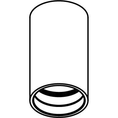 Drawing of E-TUBE.140/.. - Ø80-82 ECS - BUILT UP, plafondverlichting voor inbouwcassette ECS - rond - afzonderlijk te bestellen