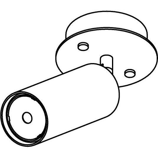 Drawing of 4531/.. - CAPUCINE XL, opbouw plafondverlichting - richtbaar - met basis Rondobox