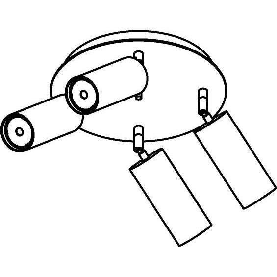 Drawing of 4534/.. - CAPUCINE XL, opbouw plafondverlichting - richtbaar - met basis Rondobox