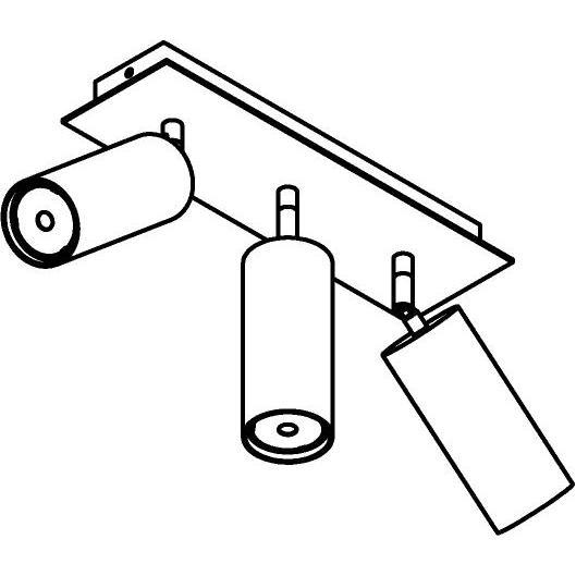 Drawing of 4538/.. - CAPUCINE XL, opbouw plafondverlichting - richtbaar - met basis Texo