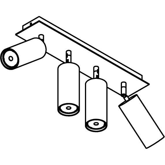 Drawing of 4539/.. - CAPUCINE XL, opbouw plafondverlichting - richtbaar - met basis Texo