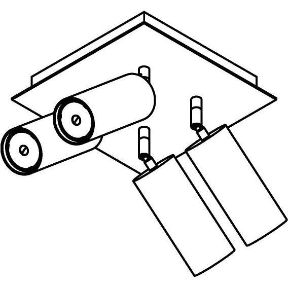 Drawing of 4540/.. - CAPUCINE XL, opbouw plafondverlichting - richtbaar - met basis Texo