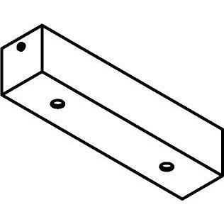 Drawing of 1166.200/.. - JUBA, plafondverlichting zonder spot of pendel - 20cm - met 2 openingen - plaats voor driver