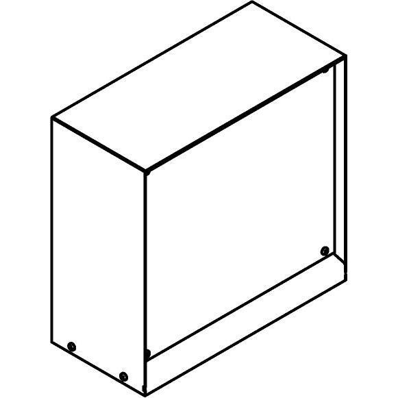 Drawing of T1185SP/.. - CONTROL BOX, Connecterende zuil - lege behuizing - ruimte voor alle aftakdozen