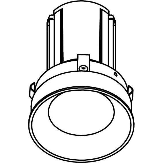 Drawing of E-CLICKAQUA.DC/.. - Ø80-82 EQUAL CLICK SYSTEM, inbouwcassette - rond - vast - zonder LED driver