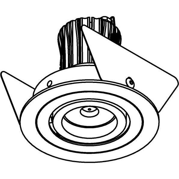 Drawing of SLE11_DIVA/.. - Ø65, spot encastrable - rond - orientable - sans driver LED