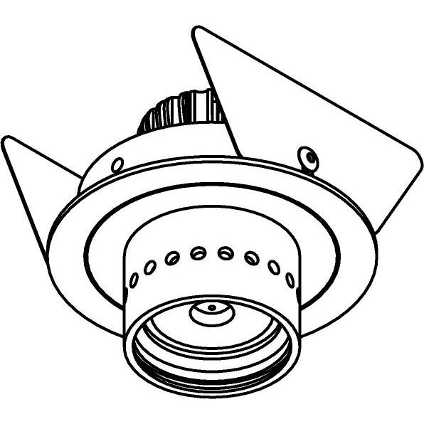 Drawing of SLE11_CANO/.. - Ø65, inbouwspot - rond - vast - zonder LED driver