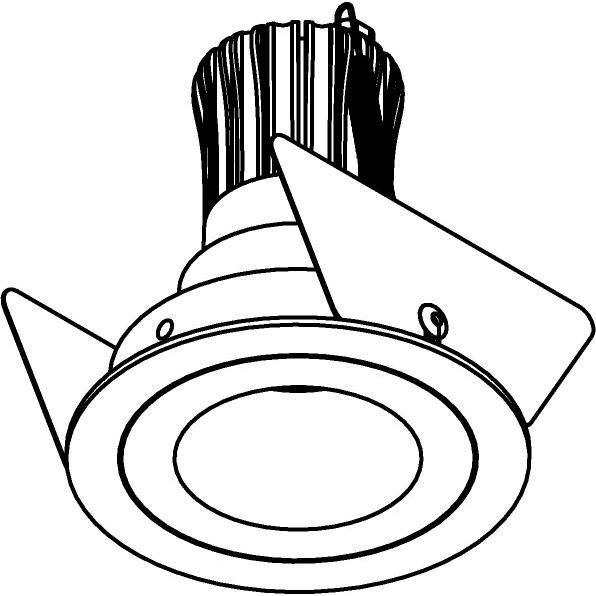 Drawing of SLE11_SIRAM/.. - Ø65, inbouwspot - rond - vast - zonder LED driver