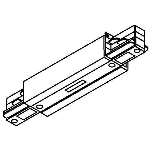 Drawing of 8120/.. - MERO 3FASE TRACK, I-connector met aansluitmogelijkheid voor voeding