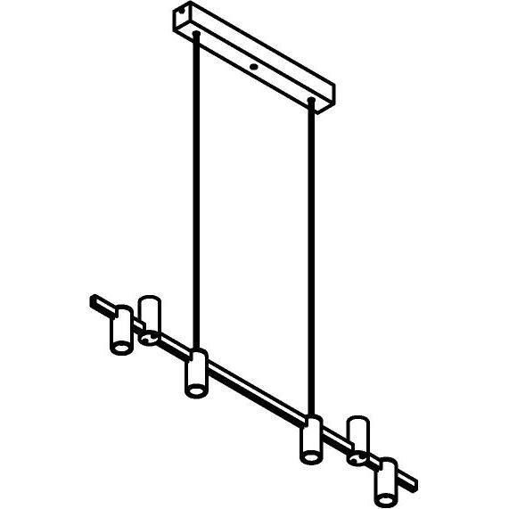 Drawing of 1350/.. - TALLY, hanglamp met bolgewricht - stang inkortbaar - vast - down/up - met LED driver