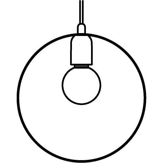 Drawing of 1409/.. - C-LINE, hanglamp - met 1,5m textielkabel en trekontlasting aan fitting