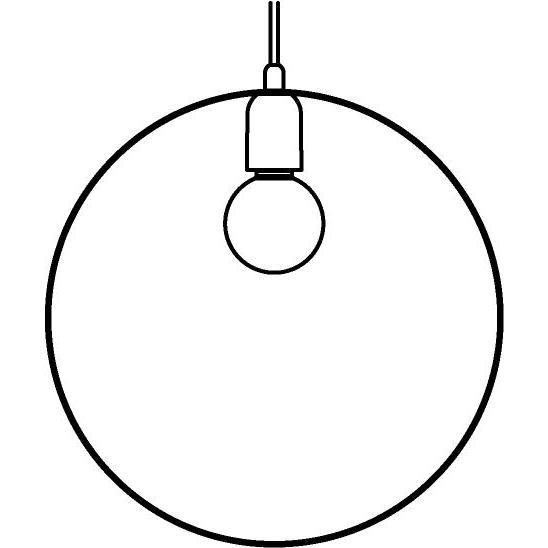 Drawing of 1410/.. - C-LINE, hanglamp - met 1,5m textielkabel en trekontlasting aan fitting