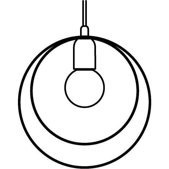 Drawing of 1417/.. - C-LINE, hanglamp - met 1,5m textielkabel en trekontlasting aan fitting