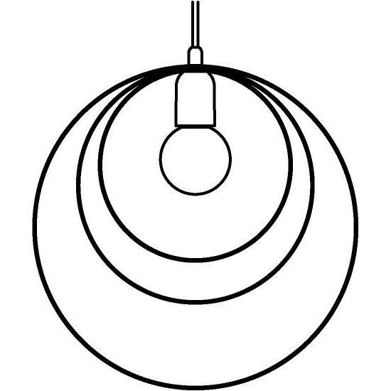 Drawing of 1418/.. - C-LINE, hanglamp - met 1,5m textielkabel en trekontlasting aan fitting