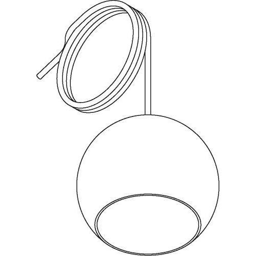 Drawing of 5085.B.E27/.. - MOBY SMOKEY GREY, hanglamp - met 2m textielkabel en trekontlasting aan fitting