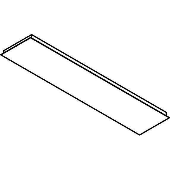 Drawing of 704.1400X300/.. - TEXO, rechthoekige basis voor opbouwspot of pendel
