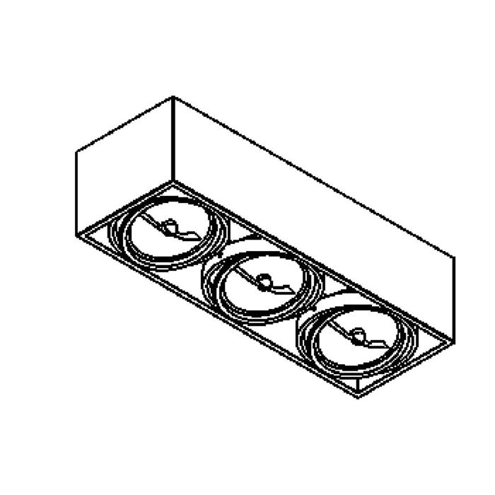Drawing of 1893/.. - SPINNER X, opbouw plafondverlichting - richtbaar - down