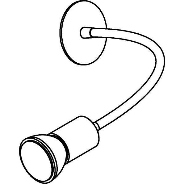 Drawing of 1167.300/.. - FLEX LITTLE CAPA, opbouwspot met flexibele arm - richtbaar - zonder schakelaar