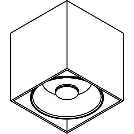 Drawing of 4085/.. - RICHARD AR111, opbouw plafondverlichting - vierkant - vast - down