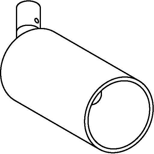 Drawing of 3982M/.. - JACOB M, opbouwspot LED M10 - rond - richtbaar - zonder LED driver