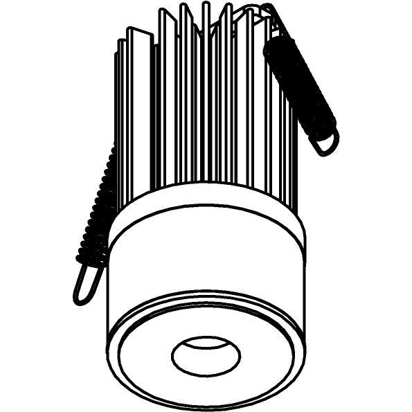 Drawing of SLO_T1_D15/.. - LEDMODULE T1, ledmodule - lens - zonder LED driver