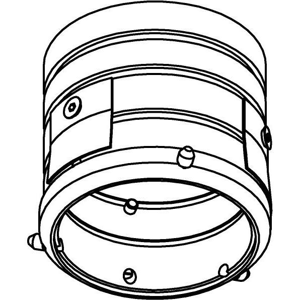 Drawing of E-MINI-GYPROC/.. - Ø60-62 MINI CLICK SYSTEM, inbouwring - rond - voor plafond in gyproc