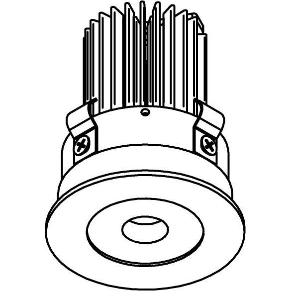 Drawing of E-MINIFIX/.. - Ø60-62 MINI CLICK SYSTEM, inbouwcassette - rond - vast - zonder LED driver