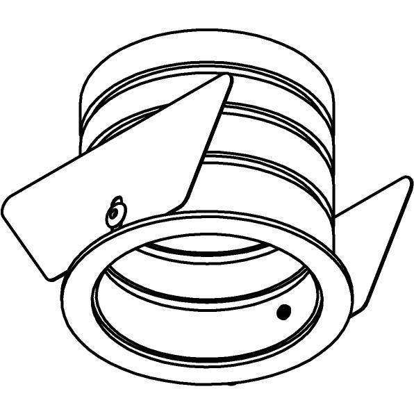Drawing of E-MINIROUNDBASE/.. - Ø60-62 MINI CLICK SYSTEM, inbouwring - rond - met rand