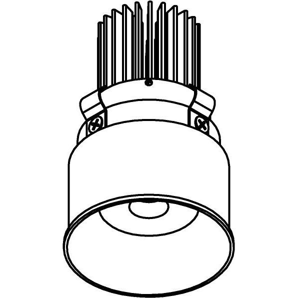 Drawing of E-MINIYOKO/.. - Ø60-62 MINI CLICK SYSTEM, inbouwcassette - rond - vast - zonder LED driver
