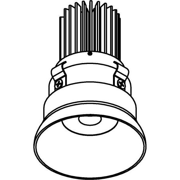 Drawing of E-MINICONE/.. - Ø60-62 MINI CLICK SYSTEM, inbouwcassette - rond - vast - zonder LED driver