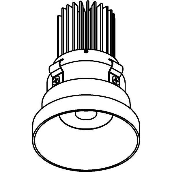 Drawing of E-MINIPARA/.. - Ø60-62 MINI CLICK SYSTEM, inbouwcassette - rond - vast - zonder LED driver