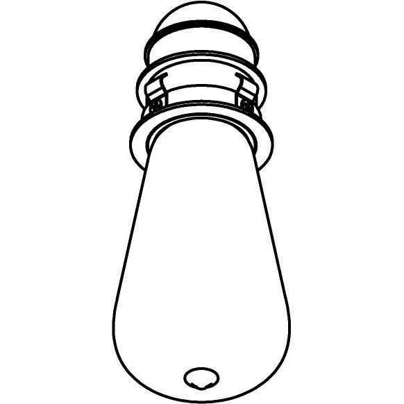Drawing of E-MINIE27/.. - Ø60-62 MINI CLICK SYSTEM, inbouwcassette - rond - vast - zonder ledlamp