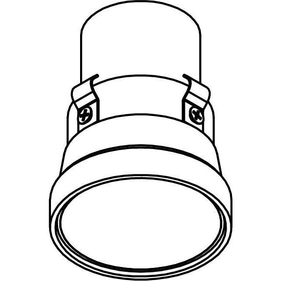 Drawing of E-MINIGU10/.. - Ø60-62 MINI CLICK SYSTEM, inbouwcassette - rond - vast - zonder ledlamp