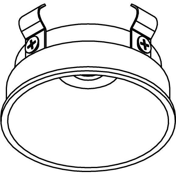 Drawing of E-MINIREZA/.. - Ø60-62 MINI CLICK SYSTEM, inbouwcassette voor spot of pendel - rond