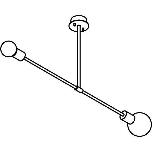 Drawing of 1508/.. - CLEO, hanglamp met bolgewricht en opbouwdoos - vast - asymmetrisch