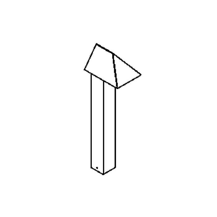 Drawing of T420.400.ES50/.. - ARGOS, tuinpaal - vast
