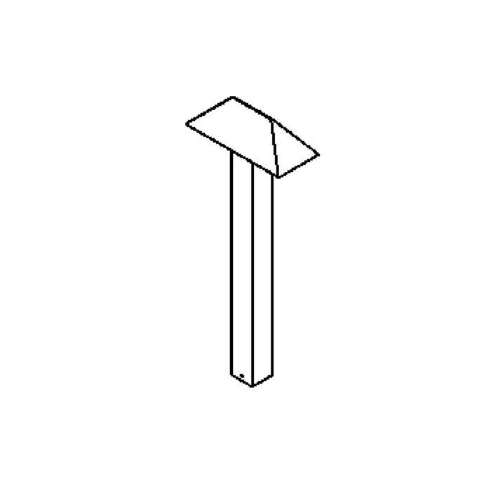 Drawing of T430.1000.ES50/.. - KADMOS, bollard - fixed