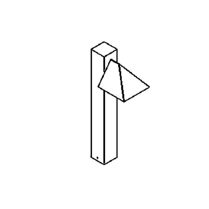 Drawing of T414.1000.ES50/.. - VENUS, tuinpaal
