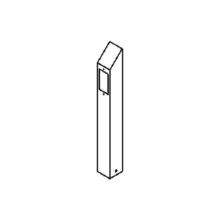 Drawing of T401.600.LED/.. - PONTOS, tuinpaal - vast - 1 opening