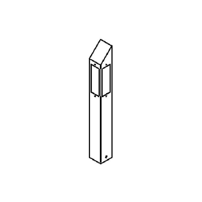 Drawing of T450.600.LED/.. - PONTOS, tuinpaal - vast - 3 openingen