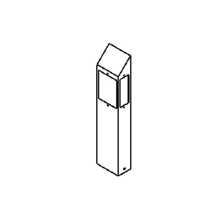 Drawing of T454.600.LED/.. - PONTOS, tuinpaal - vast - 3 openingen
