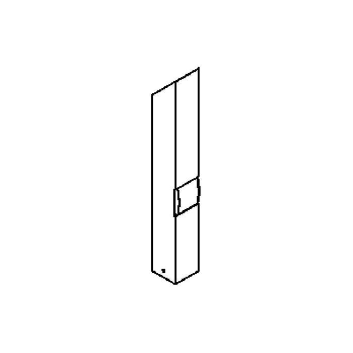 Drawing of T403.600.LED/.. - PONTOS, tuinpaal met stopcontact - vast - 1 opening