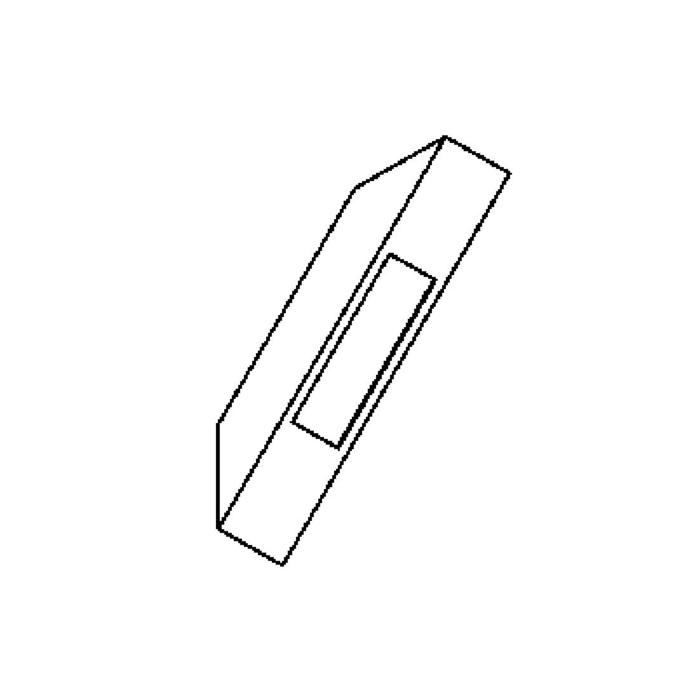 Drawing of W701.LED/.. - PONTOS, opbouw wandlicht - 1 opening