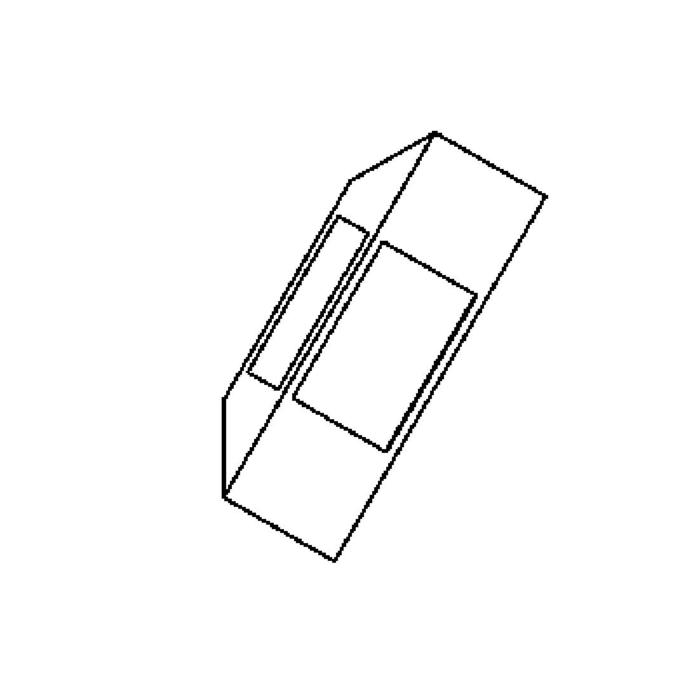 Drawing of W702B.LED/.. - PONTOS, opbouw wandlicht - 3 openingen