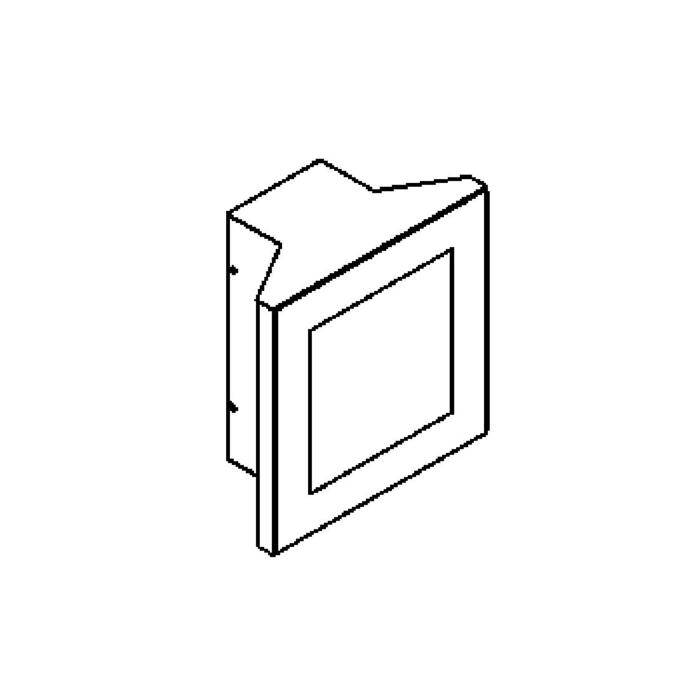 Drawing of W708.D.LED/.. - POLO, opbouw wandlicht