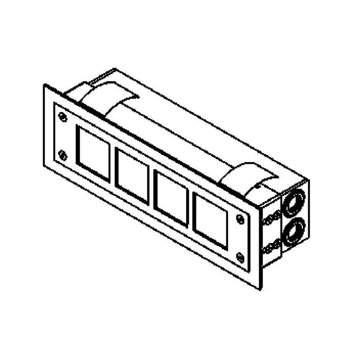 Drawing of W1216.LED/.. - STONE, inbouw wandlicht