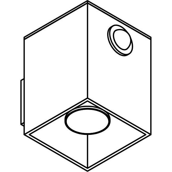 Drawing of W1169/.. - RICHARD - ALU anodised, opbouw wandlicht - vierkant - vast - down - met ingebouwde sensor