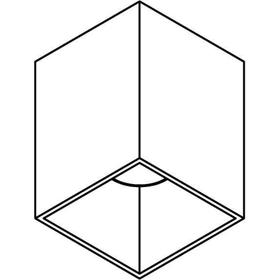 Drawing of W1172/.. - RICHARD - ALU anodised, opbouw plafondverlichting - vierkant - vast - down